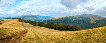 Autumn mountain panorama.