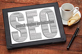 SEO - search engine optimization word cloud