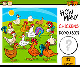 counting task with chickens cartoon