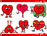 valentine and love cartoon set