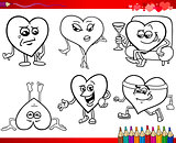 valentine cartoons for coloring