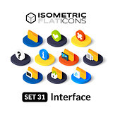 Isometric flat icons set 31
