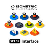 Isometric flat icons set 32