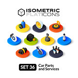 Isometric flat icons set 36
