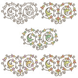 Vector vintage decorative hand drawn floral vignette