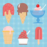 ice cream cone vector icon set illustration sweet dessert popsicle