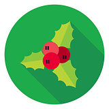 Flat Design Rowan Berry Circle Icon
