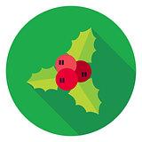 Flat Design Rowan Berry Circle Icon