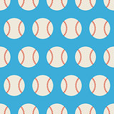Flat Vector Seamless Sport and Recreation Baseball Pattern