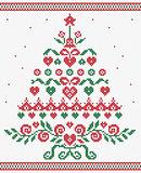 Christmas tree ornament vector seamless texture