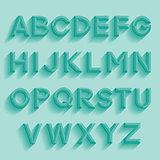 Decorative retro alphabet. Vector illustration.
