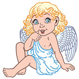cartoon little angel
