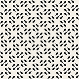 Vector Seamless Black And White Square Arrow Head Shape Geometric Pattern