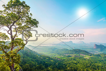 green mountains in Thailand
