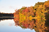 New Jersey lake and autumn foliage