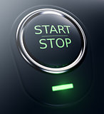 button with text start stop