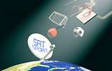 concept of sport broadcast worldwide- Elements of this image fur