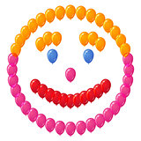 Smiley of balloons