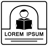 man with book icon