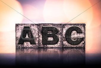 ABC Concept Vintage Letterpress Type