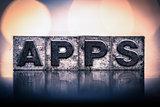 Apps Concept Vintage Letterpress Type