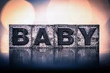 Baby Concept Vintage Letterpress Type