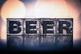 Beer Concept Vintage Letterpress Type