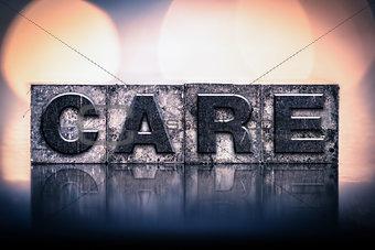 Care Concept Vintage Letterpress Type