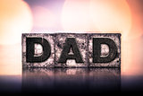 Dad Concept Vintage Letterpress Type