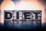 Diet Concept Vintage Letterpress Type