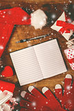 Santa Claus notebook for good children wish list