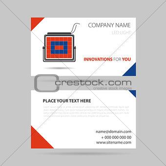 business card - LED spotlight