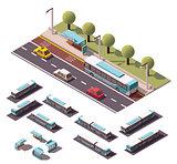 Vector isometric buses set