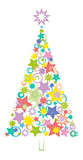 Cartoon Christmas Holiday Tree
