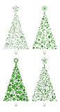 Cartoon Christmas Holiday Trees