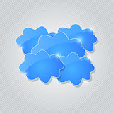 Blue Shiny Cloud Group Card