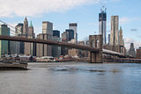 Manhattan and Brooklyn bridge view