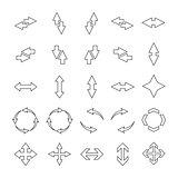 Set outline arrows, vector illustration.