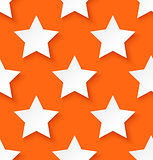 White paper seamless star pattern background