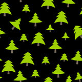 Christmas Tree Pattern Background Vector Illustration