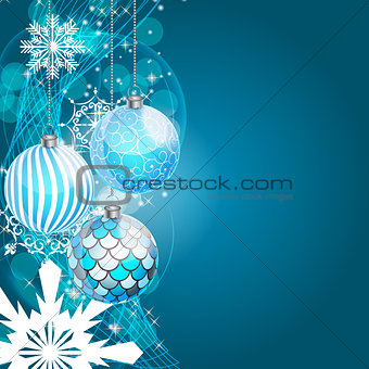 Abstract Beauty Christmas and New Year Background. Vector Illustration.