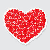 Heart Form Sticker Vector Illustration
