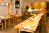 Blurred image of a restaurant