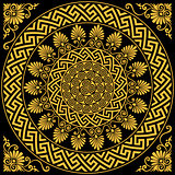vector Traditional vintage gold Greek ornament Meander