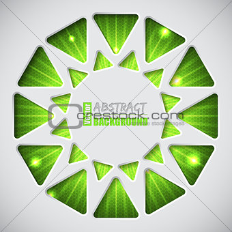 Abstract green background with text container