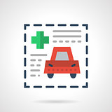 Insurance document flat color vector icon