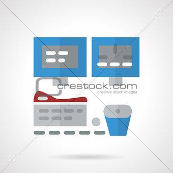 Flat medical diagnostic equipment vector icon