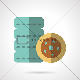 Tires flat color vector icon