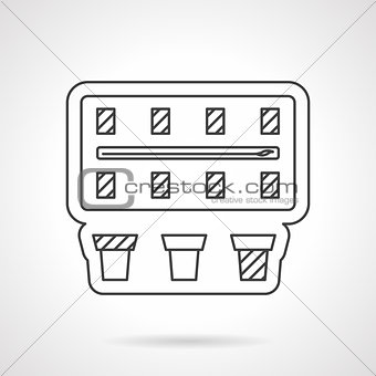 Blank paintbox flat line vector icon.