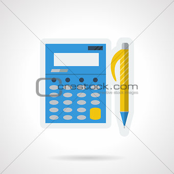 Accounting flat color vector icon